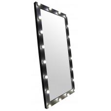 Зеркало для барбершопа, 200*100, черное